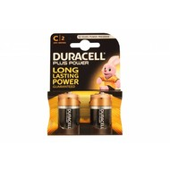 Duracell plus power alkaline C cell batterijen 2 stuks