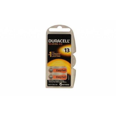 Duracell hoortoestel batterijen type 13 | oranje | PR48