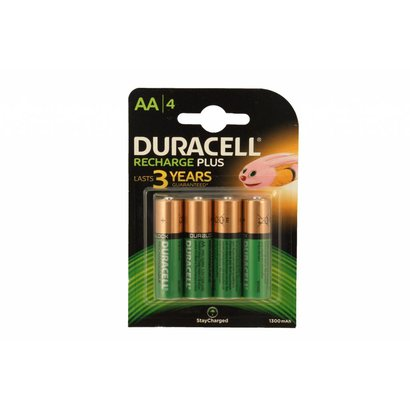 Duracell AA oplaadbare batterijen 1300 mAh stay charged NiMH DECT