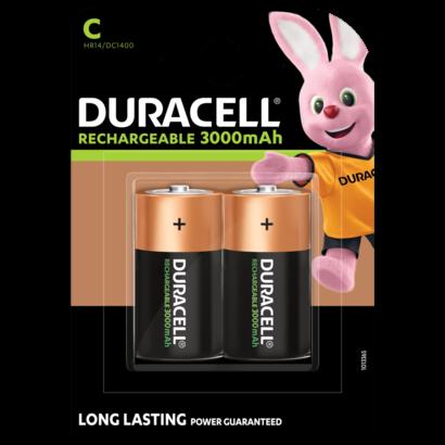 Duracell type C cell oplaadbare batterijen 3000 mAh