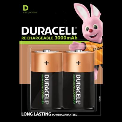 Duracell D cell oplaadbare batterijen 3000 mAh