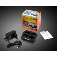 Batterijlader voor 4x 9V oplaadbare batterijen