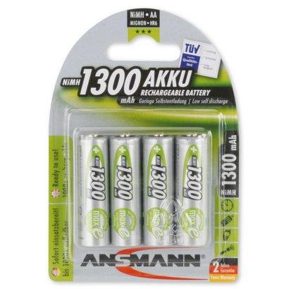 Ansmann AA oplaadbare batterijen 1300 mAh MaxE NiMH 4 stuks DECT