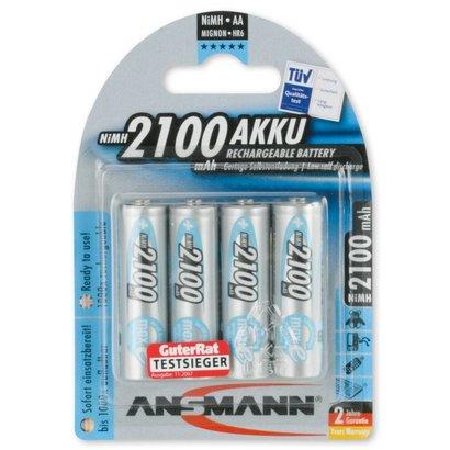 Ansmann AA oplaadbare batterijen 2100 mAh MaxE NiMH