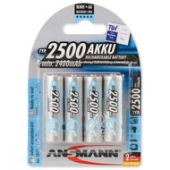 Ansmann oplaadbare AA batterijen 2500 mAh