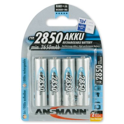 Ansmann AA oplaadbare batterijen 2850 mAh NiMH