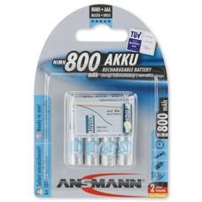Ansmann AAA oplaadbare batterijen 800 mAh