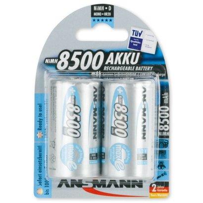 Ansmann oplaadbare D batterijen 8500 mAh