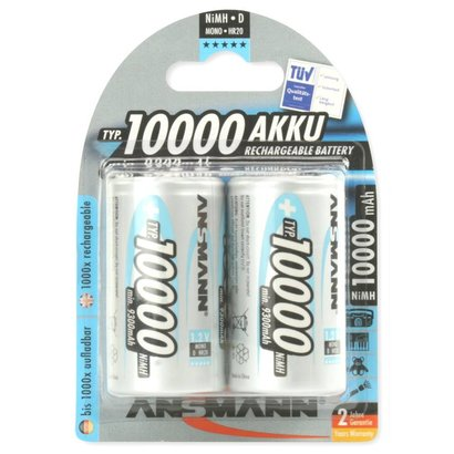 Ansmann D cell oplaadbare batterijen 10000 mAh MaxE