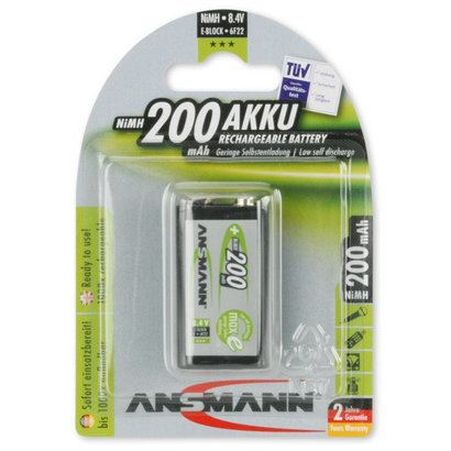 Ansmann 9V blok oplaadbare batterij 200 mAh MaxE