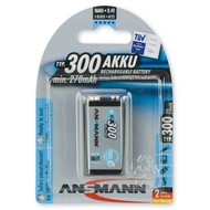 Ansmann 9V blok oplaadbare batterij 300 mAh