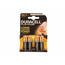 Duracell plus power alkaline AA batterijen 4 stuks