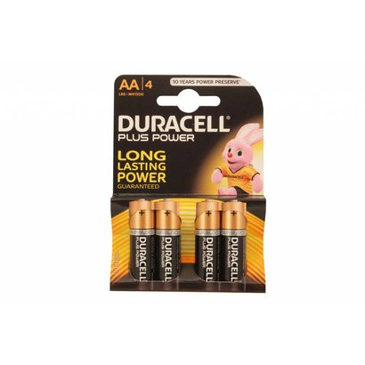 Duracell plus power alkaline AA batterijen 4 stuks