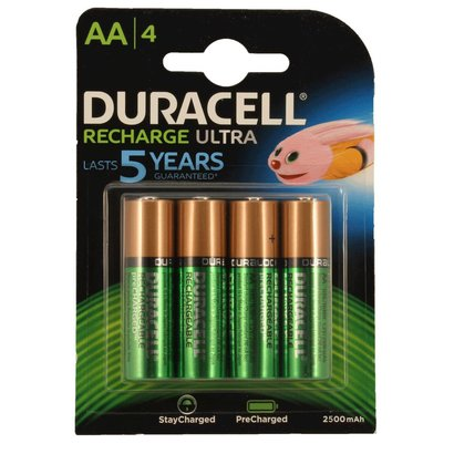 Duracell AA oplaadbare batterijen 2500 mAh stay charged NiMH