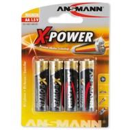 Ansmann X-power AA batterijen 4 stuks