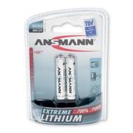 Ansmann lithium AAA batterijen blister 2 stuks