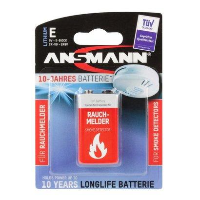 Ansmann 9V lithium rookmelder batterij