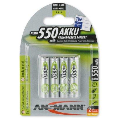 Ansmann oplaadbare AAA batterijen MaxE 550 mAh DECT