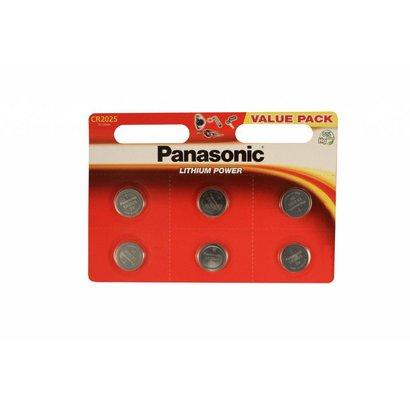 Panasonic CR2025 3V lithium knoopcel batterijen (3 Volt) 6 stuks