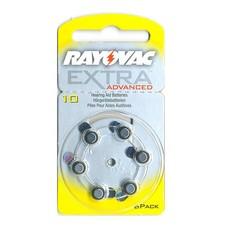 Rayovac extra advanced hoortoestel batterijen type 10 | geel | PR70