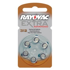 Rayovac extra advanced hoortoestel batterijen type 312 | bruin | PR41