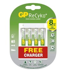 GP batterijlader incl. 4 x AA 2000 mAh batterijen