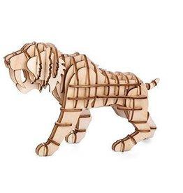 Kikkerland Houten tijger puzzel 3D