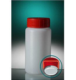 Pot PE rond met dop en inlegstop 150/250 /500 ml
