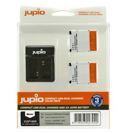 Jupio GoPro batteries and charger