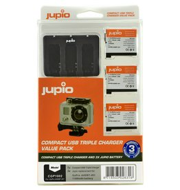 Jupio Jupio GoPro Oplader + 3 Accu's