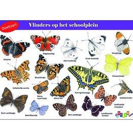 Doekaart Vlinders op het schoolplein