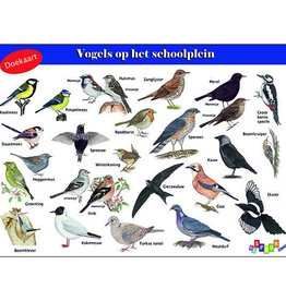 Doekaart Vogels op het schoolplein