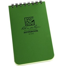 Rite in the Rain Waterproof Notebook Top Spiral Green