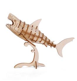 Kikkerland Houten haai puzzel 3D