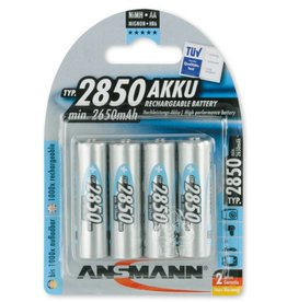 Ansmann NiMH High Capacity 2850mAh AA - 4 pack