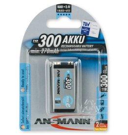 Ansmann NiMH Premium maxE 300mAh 9V-Block