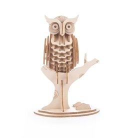 Kikkerland Wooden owl 3D puzzle