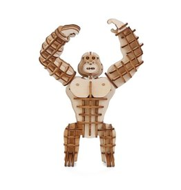 Kikkerland Houten gorilla puzzel 3D
