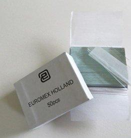 Euromex Objectglaasjes 76 x 26 mm, kanten gesneden