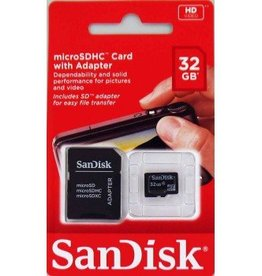 SanDisk MicroSDHC Card with Adapter 16GB/32GB
