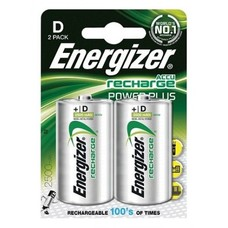 D cell oplaadbare batterijen Energizer 2500 mAh 1,2V blister 2 stuks