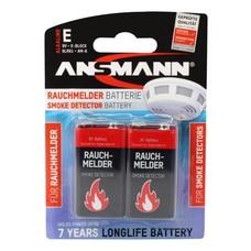 9V blok batterij Ansmann blister 2 stuks