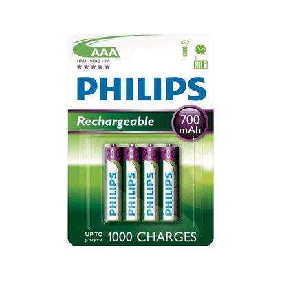 AAA oplaadbare batterijen Philips NiMH 1,2V 700 mAh DECT