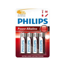 AA AM3 batterijen Philips power alkaline blister 4 stuks