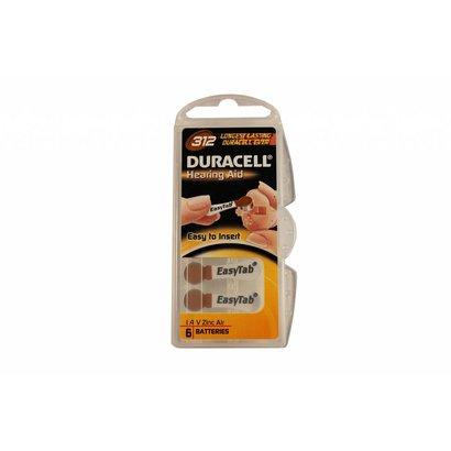Duracell activair type 312 | bruin | PR41 hoortoestel batterijen