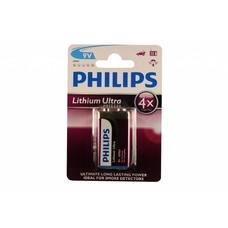 9V lithium blok batterij Philips ultra