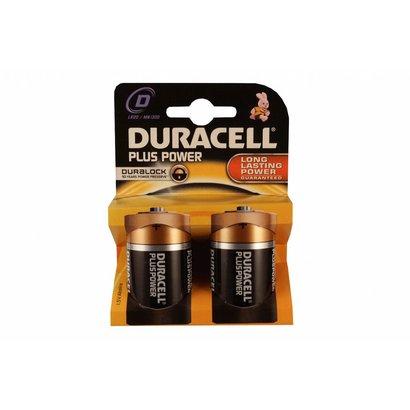 Type D cell batterijen Duracell plus blister 2 stuks