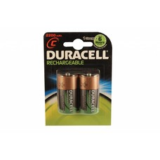 C cell oplaadbare batterijen Duracell 1,2V blister 2 stuks