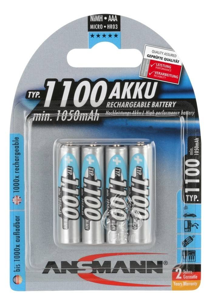 Krachtige AAA oplaadbare batterijen