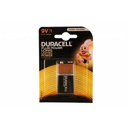 9V blok batterij Duracell plus power blister